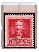 Dr Crawford W Long Postage Stamp Duvet Cover