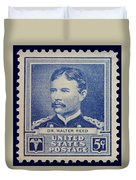 Dr Walter Reed Postage Stamp Duvet Cover