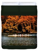 Dragon Boat On The Schuylkill Duvet Cover