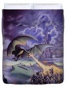 Dragon Combat Duvet Cover