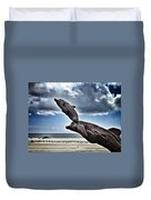 Dramatic Dolphins Duvet Cover