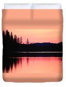 Dramatic Picture Of A Forest-edged Lake Duvet Cover
