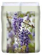 Draping Lavender Purple Wisteria Vines Duvet Cover
