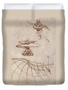 Drawings By Leonardo Divinci Duvet Cover