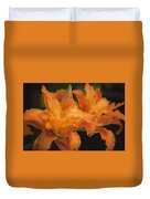 Dreamy Kwanso Daylily Pair Duvet Cover