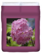 Dreamy Pink Mophead Hydrangea Squared Duvet Cover
