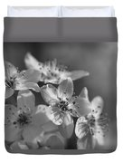 Dreamy Spring Blossoms In Black And White Duvet Cover