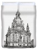 Dresden's Church Of Our Lady - Reminder Of Peace Duvet Cover