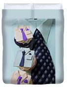 Dress Shirt Cupcakes Duvet Cover