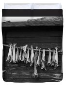 Dried Cod On A Line Duvet Cover by Heiko Koehrer-Wagner