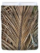 Dried Palm Fronds Duvet Cover