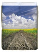 Dried Up Machinery Tracks Duvet Cover