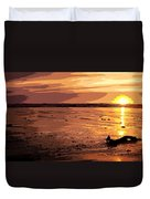 Driftwood At Sunset Duvet Cover