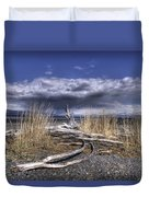 Driftwood By The Sea Duvet Cover