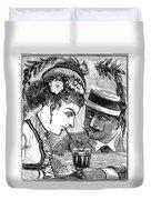 Drinking, 1875 Duvet Cover