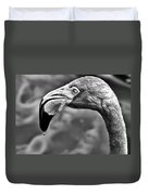Dripping Flamingo - Bw Duvet Cover