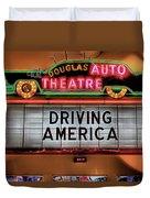 Driving America Douglas Auto Theatre Duvet Cover