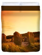 Drombeg Stone Circle, Near Glandore, Co Duvet Cover