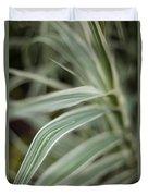 Drops Of Grass Symmetry Duvet Cover