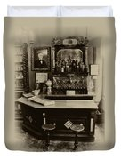 Drugstore Soda Fountain - New Orleans Duvet Cover