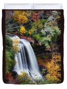 Dry Falls Or Upper Cullasaja Falls Duvet Cover