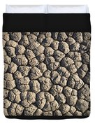 Dry Mud Patterns On The Racetrack Duvet Cover