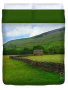 Dry Stone Walls And Stone Barn Duvet Cover