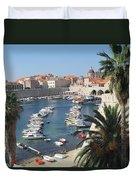 Dubrovnik Croatia Port Duvet Cover