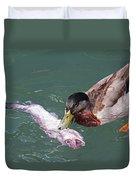 Duck Fishing Duvet Cover