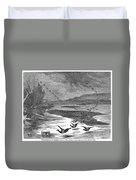 Duck Hunting, 1871 Duvet Cover