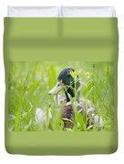 Duck In The Green Grass Duvet Cover