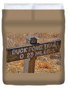 Duck Pond Trail Duvet Cover