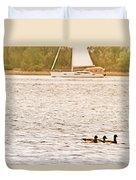 Duck Sailing Duvet Cover