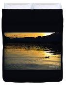 Duck Swimming Duvet Cover