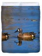 Ducks In A Row Duvet Cover
