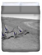 Ducks In Flight V1 Duvet Cover