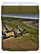 Ducks In Flight V5  Duvet Cover