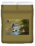 Ducks On The Water Duvet Cover