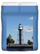 Duluth Mn Bridge Lighthouse Duvet Cover