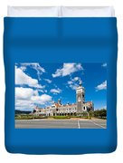 Dunedin Railway Station During A Sunny Day  Duvet Cover