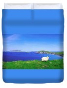Dunmore Head, Blasket Islands, Dingle Duvet Cover