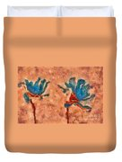 Duo Daisies - 02blt3dp1c Duvet Cover by Variance Collections