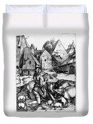 Durer: Prodigal Son, 1496 Duvet Cover