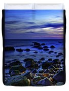 Dusk At Montauk Point Duvet Cover
