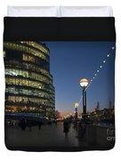 Dusk In London Duvet Cover
