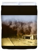 Dust Storm, 1930s Duvet Cover by Omikron