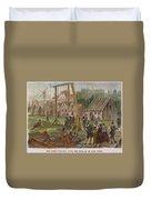 Dutch & Native American Trade Duvet Cover