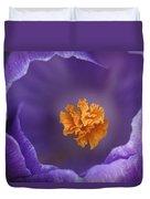 Dutch Crocus Crocus Vernus Flower Duvet Cover