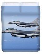 Dutch F-16ams During A Combat Air Duvet Cover
