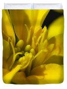 Dwarf French Marigold In Disco Yellow Duvet Cover